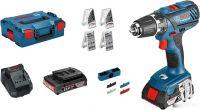 Дрель-шуруповерт Bosch GSR 18-2-LI Plus Professional 0615990H27 (с 2-мя АКБ, 4 набора)
