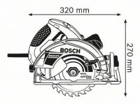 Дисковая пила Bosch GKS 65 GCE Professional 0601668900