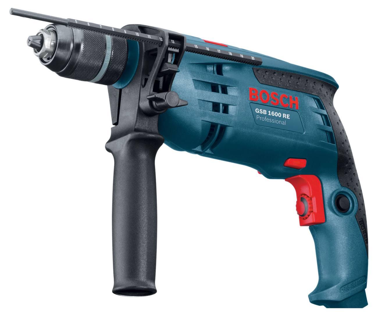 Дрель ударная Bosch GSB 1600 RE Professional 0601218121