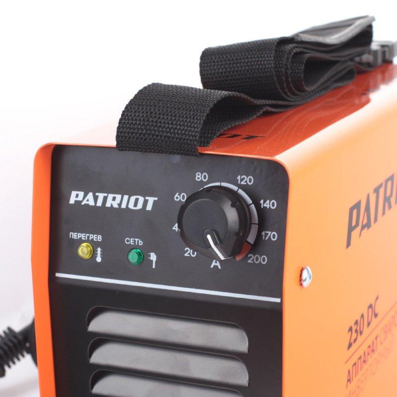 Сварочный аппарат инверторный Patriot 230DC MMA