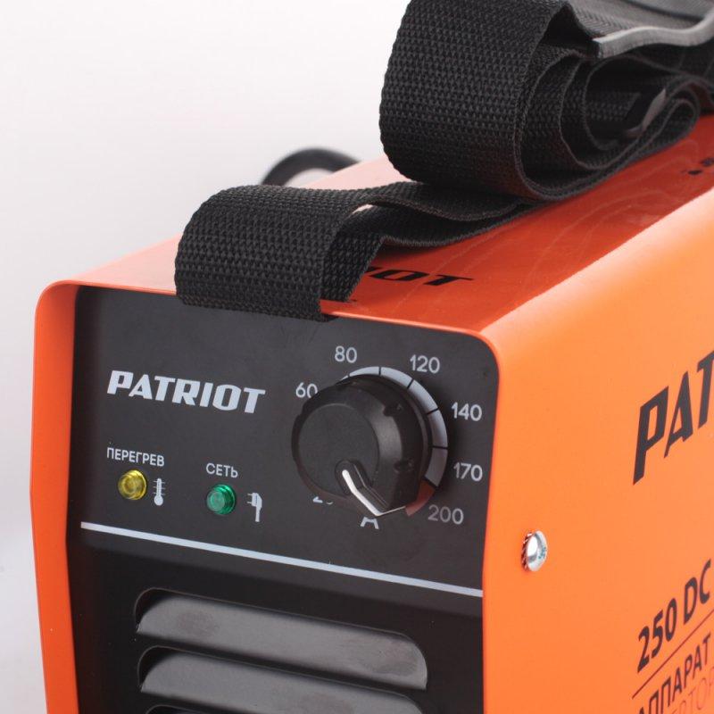 Сварочный аппарат инверторный Patriot 250DC MMA Кейс